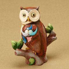 JIM SHORE Heartwood Creek Miniature Animal Figurine Bird 4021445 MINI OWL #HeartwoodCreek