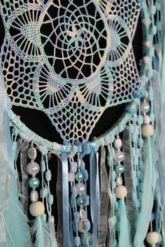 Christmas gift blue mint Dreamcatchers crochet dreamcatcher American mascots Bohemian wall hanging boho baby wall Decor Indian talisman gift This amulet like Dreamcatcher - is not just a decoration of the interior. It is a powerful amulet, which is endowed with many