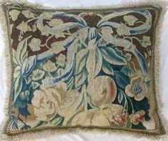 A  16TH  CENTURY  BRUSSELS  TAPESTRY  PILLOW  23X19