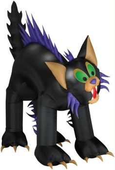 Animated Brat Cat Inflatable Yard Decoration -- Want additional info? Click on the image.