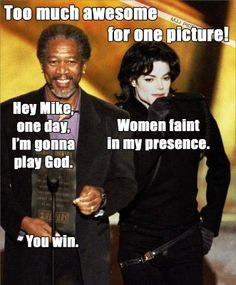 MICHAEL JACKSON + MORGAN FREEMAN = I CAN'T