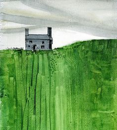 Paul Steven Bailey Welsh farmhouse 2010 Watercolour on gesso primed paper 7 x 7 inches