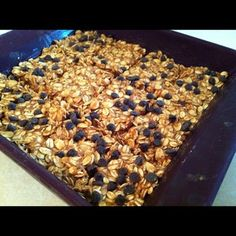 Granola Bars using PB2!!  ¾ cup honey 1 ¼ cups PB2 powder 3 cups gluten-free rolled oats (uncooked) ½ cup mini chocolate chips