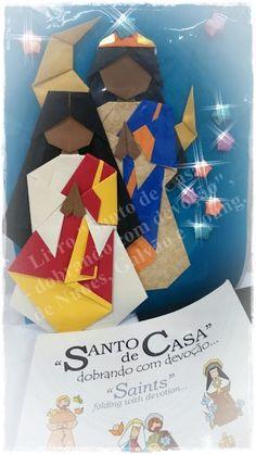 """Santa Sara Kalí em origami, por Marcio Origamus - do Livro """"Santo de Casa - dobrando com devoção"""", de Nunes, Galvão e Young."""