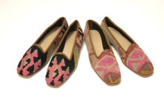 Handmade bohemian Kilim shoes  slippers loafers  US by BOHOGRAND, €113.26