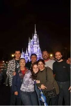 The family at Disney