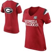 Georgia Bulldogs Women's Crystallized Fitted Long Sleeve T-Shirt – Red