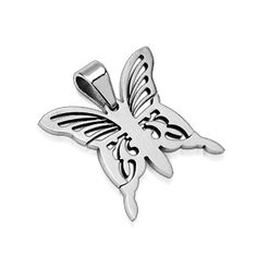 Stainless Butterfly Pendent