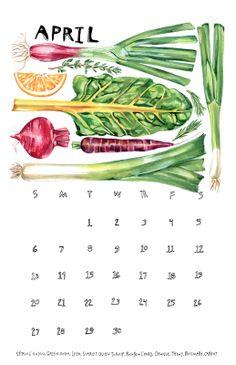 2014 Eat Local Calendar - Maria Schoettler