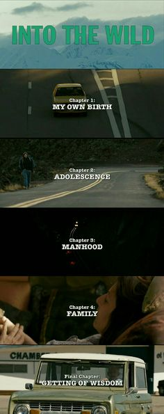 Into The Wild Movie's Chapters .