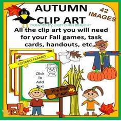 AUTUMN CLIP ART PACKET: 42 FALL-THEMED IMAGES