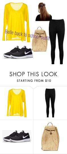 """Belle back to school outfit"" by hungergameswonderland on Polyvore featuring American Vintage, Boohoo and NIKE"