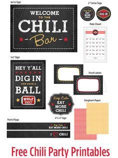 Free Chili Party Printables (and Cornbread Chili Cups Recipe) #1TexasChili #ad