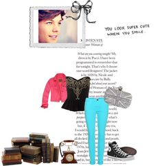 """""""out with louis"""" by yelines-stylesmalikpaynehorantomlinson ❤ liked on Polyvore"""
