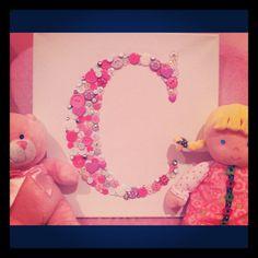 Cute as a Button.....Little Girls room...Shabby by alphabutton