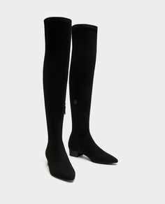 COMBINED FLAT OVER-THE-KNEE BOOTS - $60