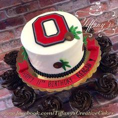 Ohio State birthday cake |  - Springboro, Ohio - Tiffany's Creative Cakes