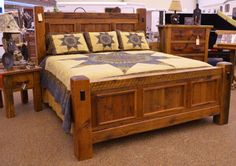 Reclaimed Panel Bed - Rustic Ranch Furniture