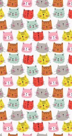 Cat pattern wallpaper