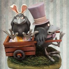 Your place to buy and sell all things handmade Wooden Cart, Clay Paint, Crows Ravens, Easter Parade, Paperclay, Clay Figures, Cold Porcelain, Hallows Eve