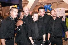 Shannon Holtzapffel, Mekia Cox, Nick Bass, Misha Gabriel, Timor Steffens and Dres Reid. Six of the eleven Michael Jackson's 'This is it' dancers.