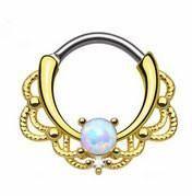 Opal septum clickers