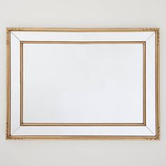 Double Framed Gold Mirror