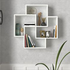 Unique Wall Shelves, Wall Shelf Decor, Wall Shelves Design, Bookshelf Design, Diy Wall Decor, Wall Bookshelves, Modern Shelving, Country Bedroom Design, Home Room Design