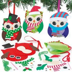 Christmas Owl Decoration Sewing Kit