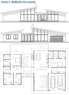 Home Layout Plans 657947826787547482 - Modified Architectural Design. Customer home. More Source by New House Plans, Dream House Plans, Modern House Plans, Small House Plans, Bedroom House Plans, Modern House Design, House Floor Plans, Bungalows, Building Plans