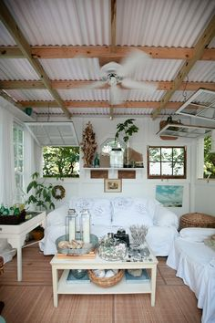 Windows....If you're a fan of rustic industrial decor then you need to check out these creative ways to use corrugated metal in Interior Design. UpcycledTreasures.com