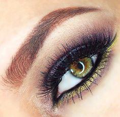 'Liquid Gold' Idea Gallery look by Makeabella using Makeup Geek's Liquid Gold pigment!
