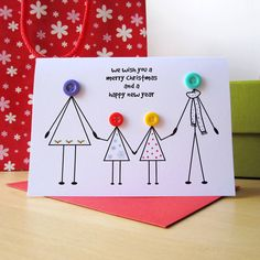 Personalised Family Christmas Card By Mrs L Cards