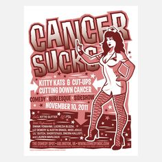 Cancer Sucks Poster by Jeffrey Everett