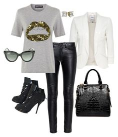 """""""Golden Lips!!!"""" by la-harrell-styling-co on Polyvore featuring Alexander Wang, Yves Saint Laurent and Markus Lupfer"""