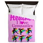 Gymnast Star Queen Duvet Personalized Gymnastics duvet covers to inspire your Gymnast. http://www.cafepress.com/sportsstar/12969453 #Gymnastics #WomensGymnastics #GirlsGymnastics #PersonalizedGymnast #Gymnastdecor