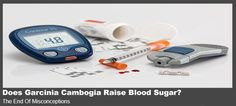 Does Garcinia Cambogia Raise Blood Sugar? There is overwhelming evidence that Garcinia Cambogia does not raise blood sugar level. There is therefore no need to have such worries when using this widely endorsed product.