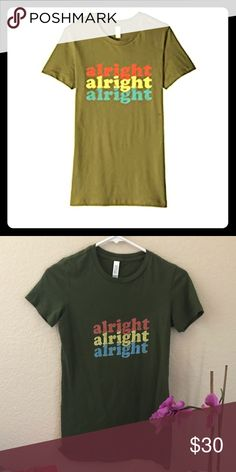 68d94218c4 ❤️Alright Alright Tee Small NWT Alright Alright from the notorious Dazed  and Confused Tops Tees