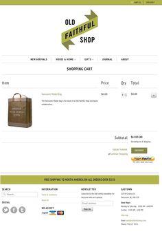 Old Faithful Shop on Web Design Served