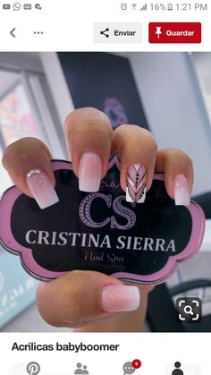 Pin by maria celestina on Unhas in 2019 Fancy Nails, Love Nails, How To Do Nails, Pretty Nails, My Nails, Kiss Nails, Perfect Nails, Nail Manicure, Simple Nails