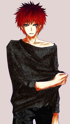 #Gaara blood why does he look so damn hot/sexy in this pic(0o0) I mean he's bleeding I should feel bad but damn just AHHHHHH SO HOTTTT