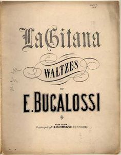Sheet Music - La Gitana waltzes
