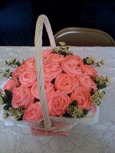 Pink Cupcake Basket
