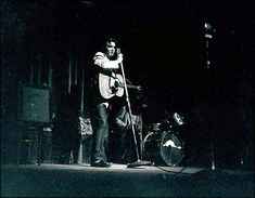 May 14, 1956: Elvis Presley plays the Twin Cities  -  A spotlight captured Elvis on stage at the Minneapolis Auditorium.