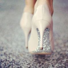 4 Vibrant Cool Tips: Wedding Shoes Cinderella shoes heels pumps. Nude Heels, Shoes Heels, Glitter Heels, Sparkle Shoes, Silver Glitter, Pink Shoes, Tan Pumps, Sparkly Heels, Beige Heels