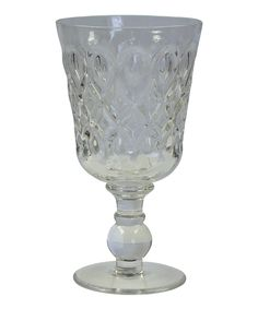 Look at this Clear Teardrop Goblet - Set of Four on #zulily today!