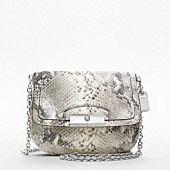 Coach small crossbody python bag $238