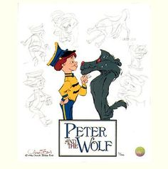Chuck Jones Studio  Peter and the Wolf: Character Sketches