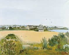 Jane Freilicher. Summer of 72, 1972, oil on linen, 53 × 68 inches. Private collection.