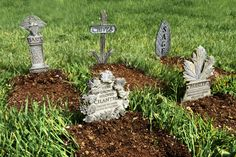 Herb cemeteries? Lots of fun for the brown thumb or anyone with a fun sense of humor.